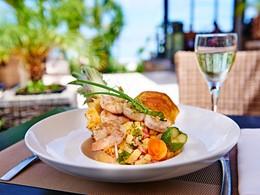 Salade de crevettes au restaurant Kotemer