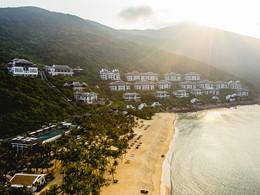 Vue aérienne de l'hôtel Intercontinental Da Nang Sun Peninsula Resort à Hoi An