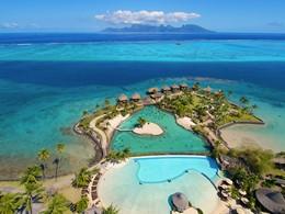 Vue imprenable sur l'océan et l'île de Moorea