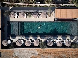 Vue aérienne de la piscine