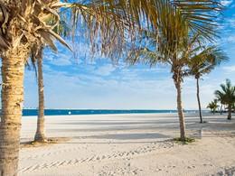 Vue de la plage de l'hôtel Jebel Ali Golf Resort & Spa à Dubaï