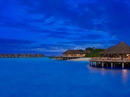 Vue des villas de l'hôtel JA Manafaru
