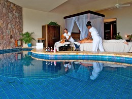 Profitez des somptueux soins du spa du Jade Mountain