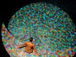La piscine du spa Kai En Ciel de l'hôtel Jade Mountain