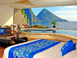 Suite Galaxy de l'hôtel Jade Mountain à Sainte-Lucie