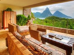 Suite Sun de l'hôtel Jade Mountain à Sainte-Lucie