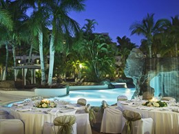 Le restaurant La Cascada de l'hôtel Jardines de Nivaria