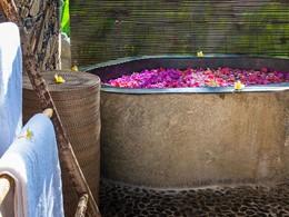 Bain de fleurs au spa