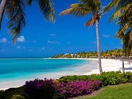 La plage du Jumby Bay, un lieu paradisiaque au large d'Antigua