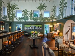 Le bar 1830 de l'hôtel Jumby Bay Island à Antigua