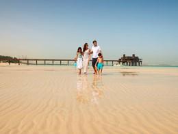 La plage de Jumeirah de l'hôtel Al Qsar