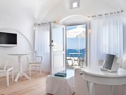 La Suite Superior de l'hôtel Katikies en Grèce
