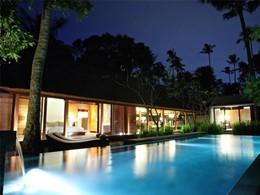 La piscine d'une des chambres de l'hôtel
