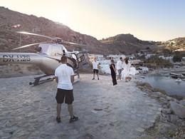 Arrivée en helicoptere au Kensho Psarou