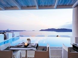 Le restaurant Anthòs de l'hôtel Kirini en Grèce