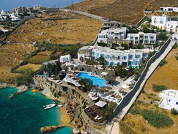 Vue aérienne de l'hôtel Kivotos à Mykonos
