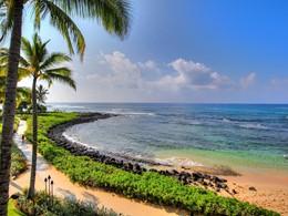 La sublime plage de Poipu du Koa Kea Hotel & Resort