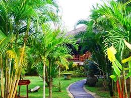 Les jolies jardins de l'hôtel