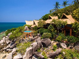 Vue du Koh Tao Cabana en harmonie avec la nature