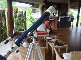 Le lounge de La Belle Tortue situé sur l'île de Silouhette