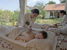Massage au spa de l'hôtel La Résidence Phou Vao situé au Laos