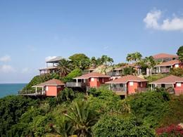 Vue de l'hôtel La Toubana situé en Guadeloupe