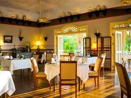 Le restaurant The Pepper Tree de l'hôtel La Véranda