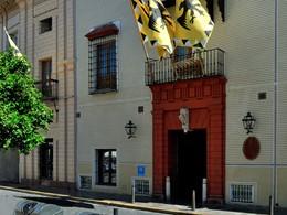 L'entrée de l'hôtel Las Casas de la Juderia situé en plein coeur du quartier de Santa Cruz à Séville