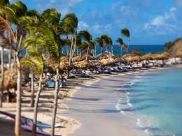 La plage de l'hôtel Guanahani St Barth