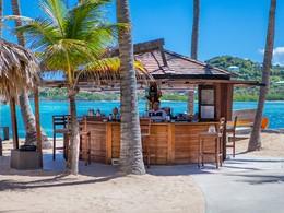 Le bar de la plage de l'hôtel Guanahani St Barth
