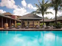 La piscine du spa de l'hôtel Guanahani aux Antilles