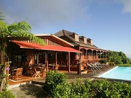 Vue du restaurant La Panga de l'hôtel Le Jardin de Malanga