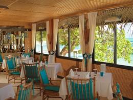 Le restaurant de l'hôtel Le Mahana Huahine