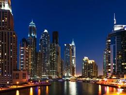 Vue de Dubaï depuis le Méridien Mina Seyahi