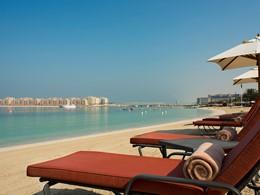 La plage de l'hôtel Méridien Mina Seyahi à Dubaï