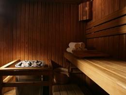 Le sauna de l'hôtel 5 étoiles Méridien Mina Seyahi