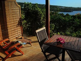 Terrasse privée avec vue sur mer