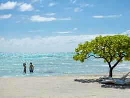 Vous serez charmés par les eaux turquoises du lagon.