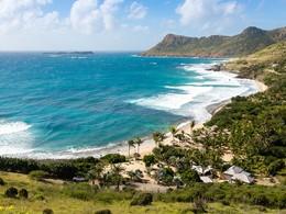 Splendide panorama sur la mer des Caraïbes depuis le Toiny