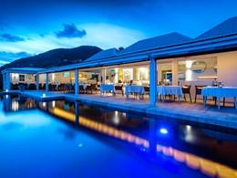 Le restaurant de l'hôtel Le Toiny, une des meilleures tables de l'île