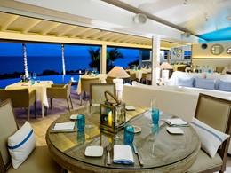 Superbe vue sur la mer depuis le restaurant Le Toiny