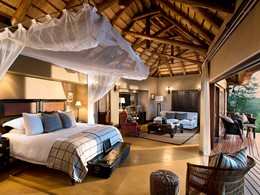La suite du Tinga Lodge du Lion Sands Game Reserve