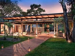 L'entrée de l'Ivory Lodge du Lion Sands en Afrique du Sud