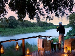 Profitez d'un panorama imprenable de la rivière Sabi depuis le Lion Sands