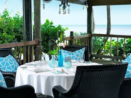 Le restaurant du Little Palm Island Resort, en Floride