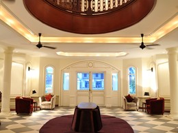 Le lobby de l'hôtel Luang Say Residence à Luang Prabang