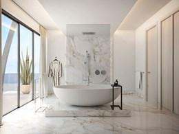 Relaxez-vous dans la salle de bain, vue sur l'océan