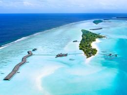Vue aérienne de LUX* South Ari Atoll