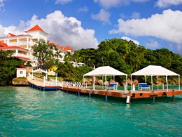 Le ponton d'arrivée du Luxury Bahia Principe Cayo Levantado