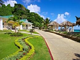 Le jardin du Luxury Bahia Principe Cayo Levantado